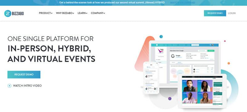 Online conference platform bizzabo