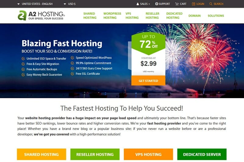 A2 Hosting - Best cheap hosting service for website owners who want an excellent uptime and fast server speed.