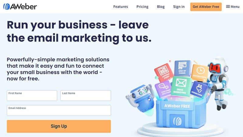 AWeber Email Marketing Platform with Excellent Support System for Small Businesses and Entrepreneurs