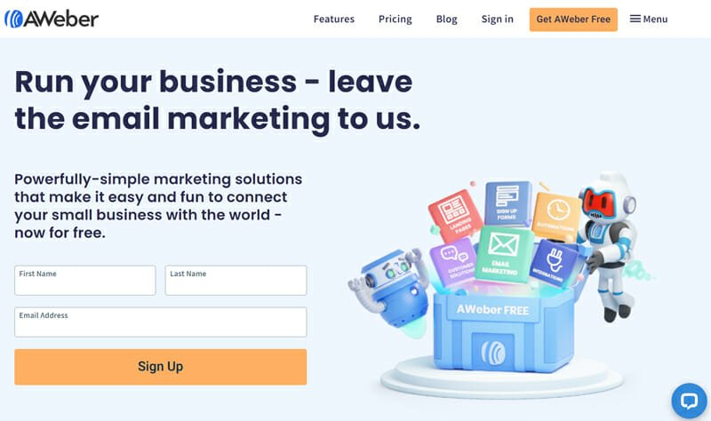 AWeber Email Marketing Software for Small Businesses with a Low Subscriber Count