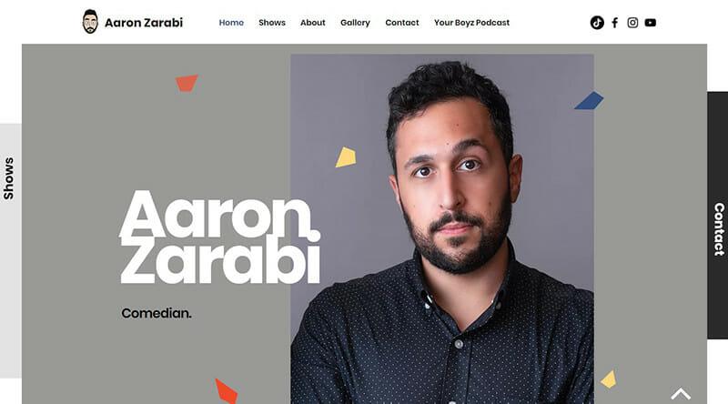 Aaron Zarabi is an award winning comedian in the US and Europe.