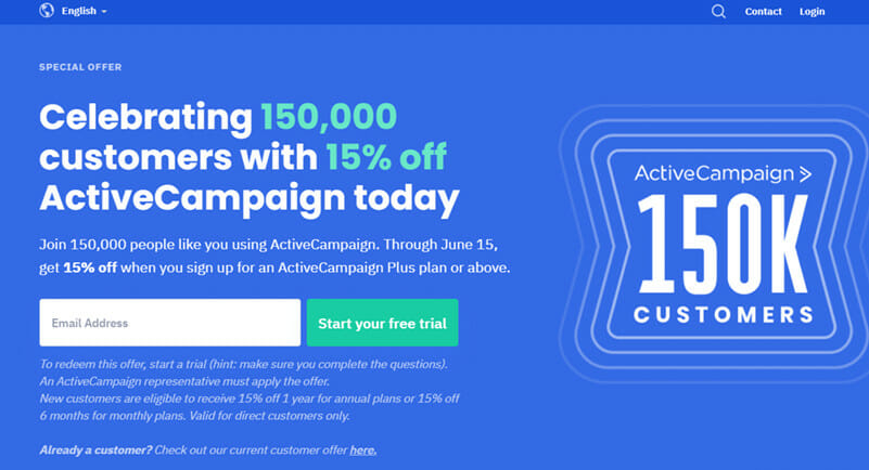 ActiveCampaign is the Best newsletter marketing service with high deliverability rates