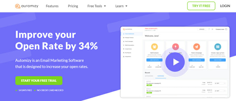 Automizy Email Marketing Platform to Increase Your Open Rates