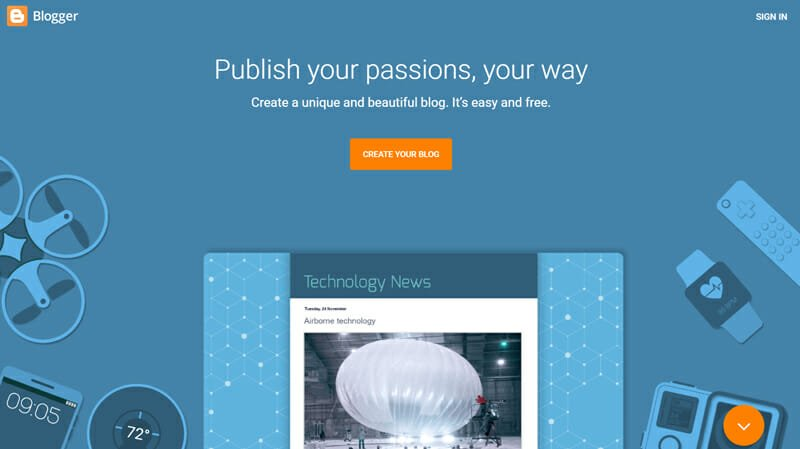 Blogger is the Best free blogging platform for non-tech individuals to start a blog