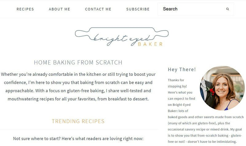 Bright Eyed Baker is a Baking Blog to help home bakers discover new recipes