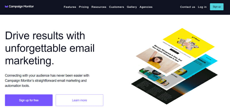 Campaign Monitor powerful email marketing software with drag and drop simplicity