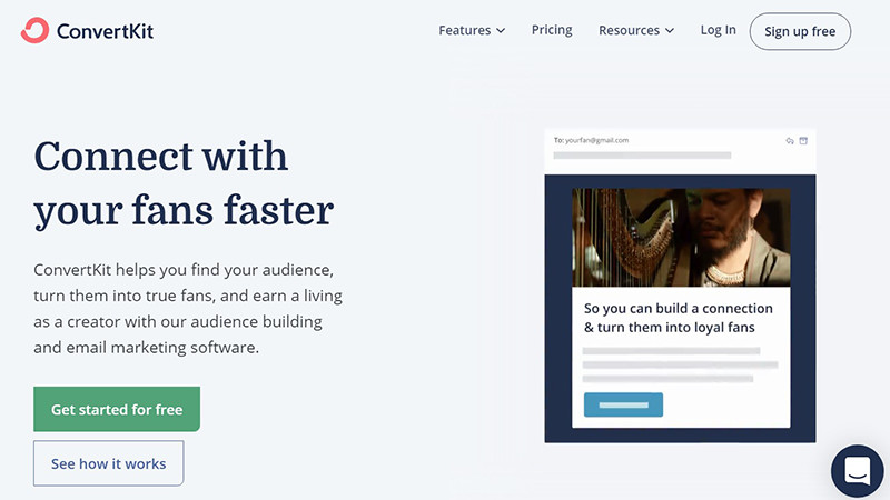 ConvertKit  Is the best mass email service for bloggers and content creators.