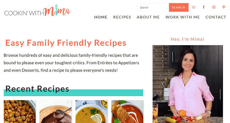 Cooking with Mima is a Cooking Blogger creating simple and easy recipes for her readers.
