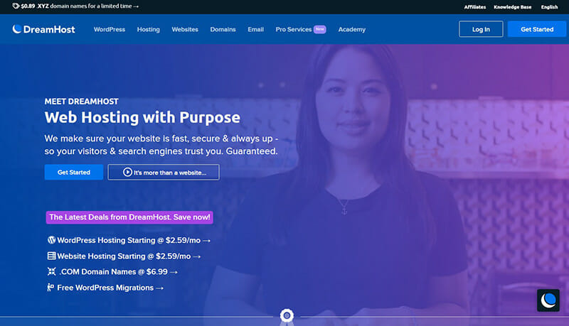 DreamHost is the Best Bluehost Alternative for Personal Sites