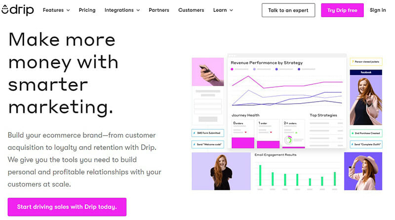 Drip is the best mass email service for eCommerce companies.