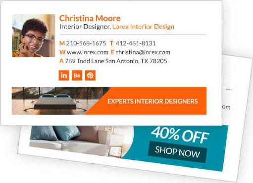 Email signature examples with offering a discount