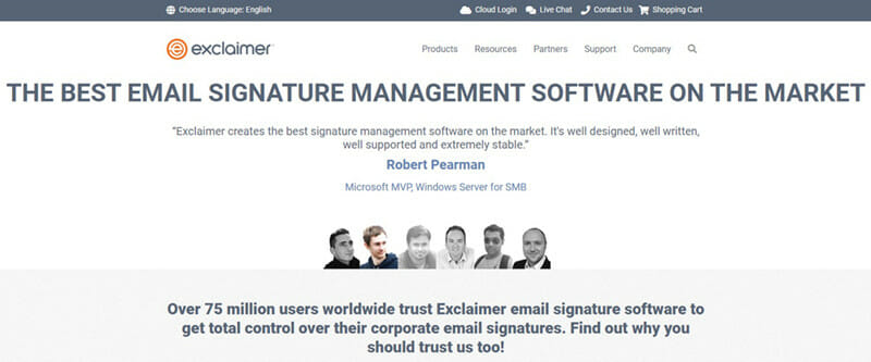 Exclaimer is the best email generator with click analytics capabilities