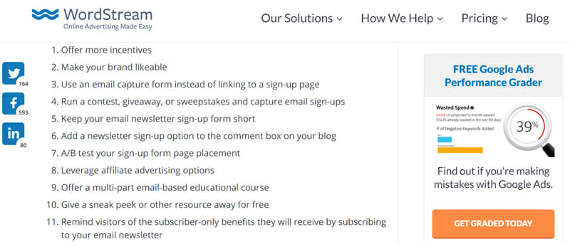 Few Tips for accelerating email sign up