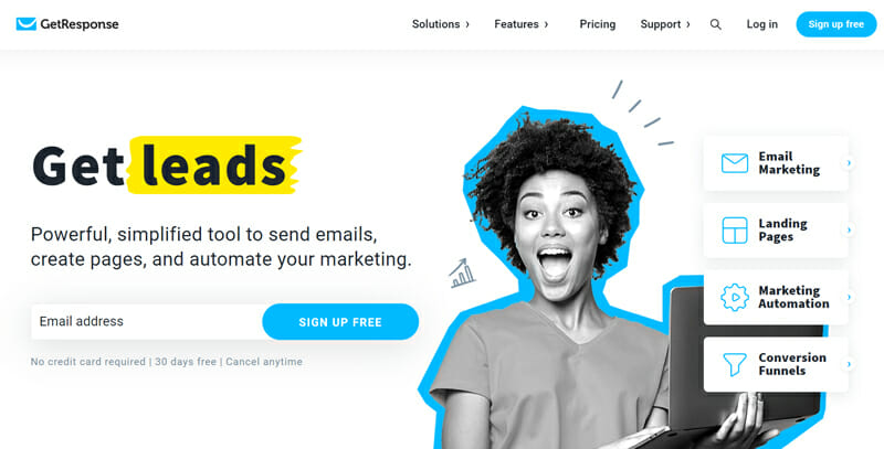 GetResponse is Top rated Email Marketing Platform for Lead Generation