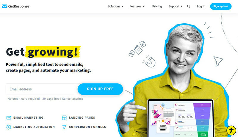 GetResponse is the best email marketing platform for small to mid sized businesses.