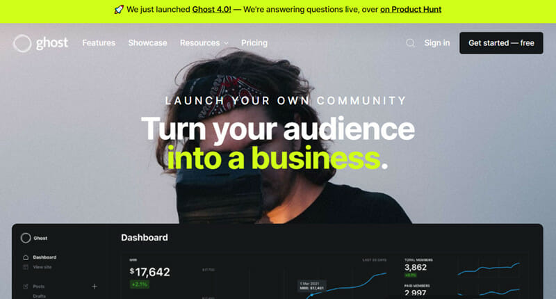 Ghost is the Best premium and minimalist blogging platform