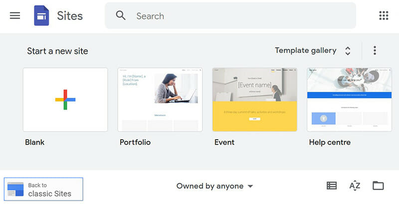 Google Sites is the best for creating minimalist websites.