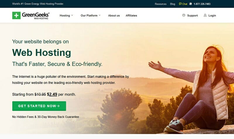 GreenGeeks - Great cheap web hosting choice for the environmentally-conscious and quality-conscious users.
