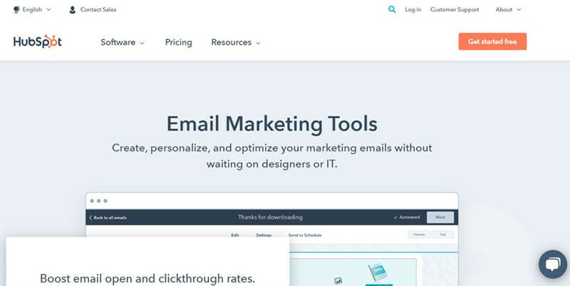 HubSpot is The Best Email Newsletter Software with Free Plan