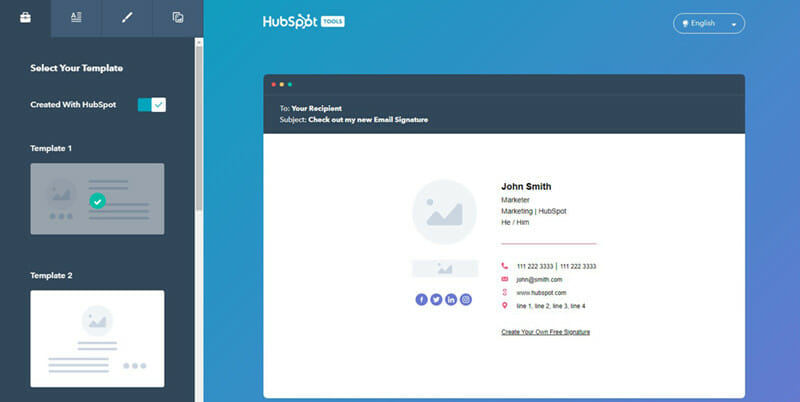 Hubspot free email signature generator for a beautiful, professional email signature