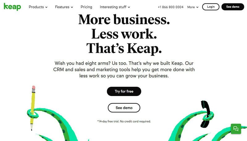 Infusionsoft is the best HubSpot Alternative for Marketing Automation and Contact Management.