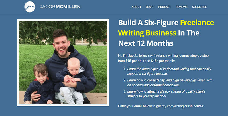 Jacob McMillen is a website with Freelance copywriter helping others in their writing journey.