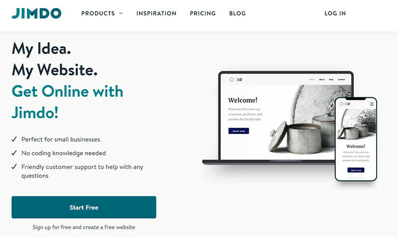 Jimdo is best for building websites for small online stores.