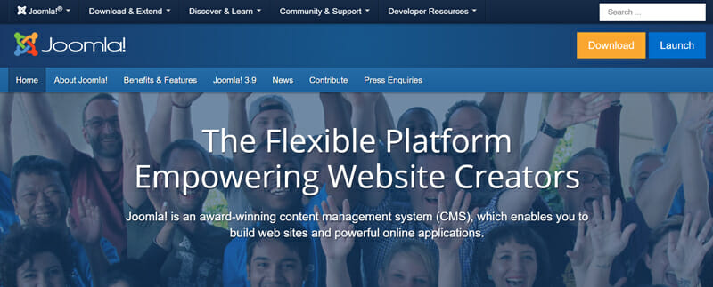 Joomla is the Best platform for large and dynamic blogs