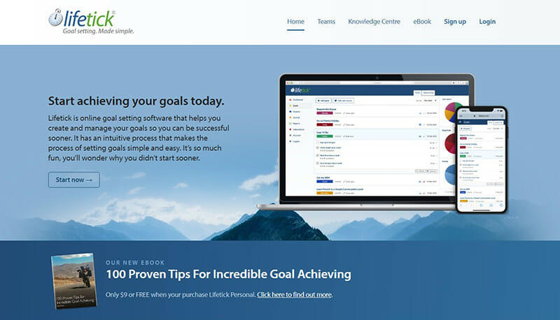 Lifetick is one of the best goal setting and tracking tools with in-depth features.