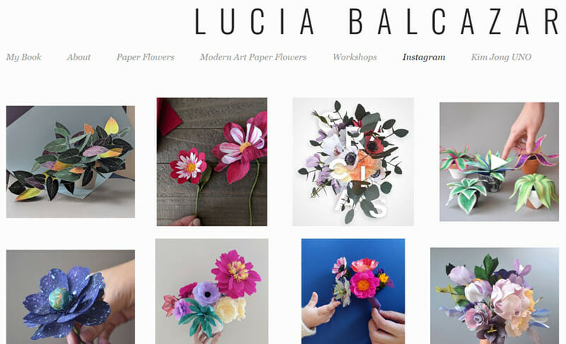 Lucia Balcazar is a website of a Talented Illustrator and paper sculptor specializes in flower art.