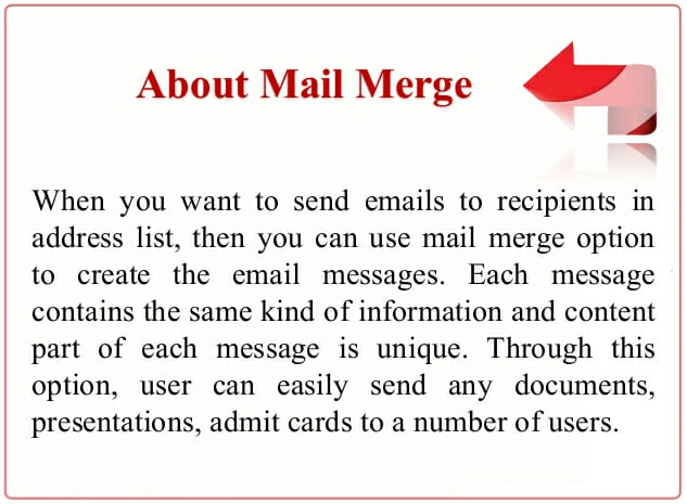 Mail merge tags to promote the products