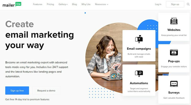 MailerLite is the best mass email service for small businesses.