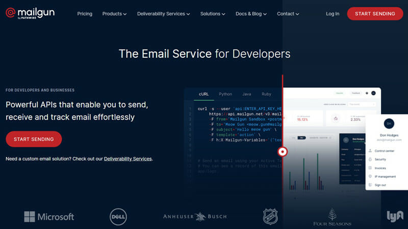Mailgun is the best mass email service for inbound email forwarding and transactional emails.