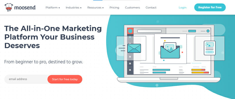 Moosend Email Marketing Software for Small Businesses and Small Profit Organizations