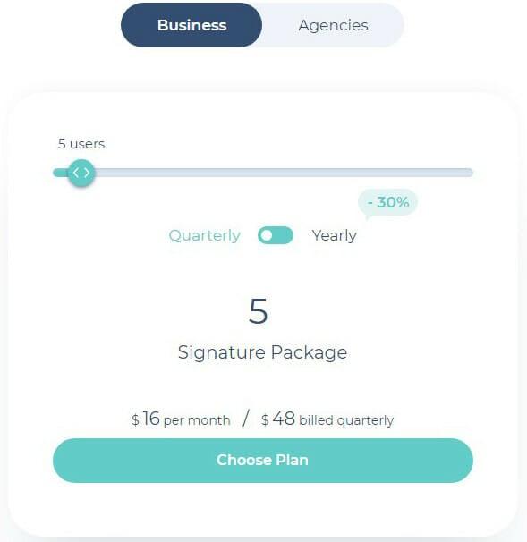 MySignature Pricing Plan