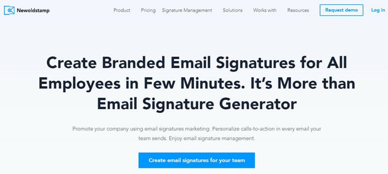 Newoldstamp is the best mobile responsive email signature generator for businesses with a large number of employees
