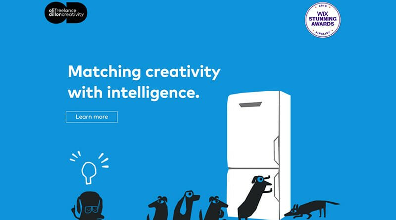 Oli Dillon is a website of Creative designer for advertisements and branding