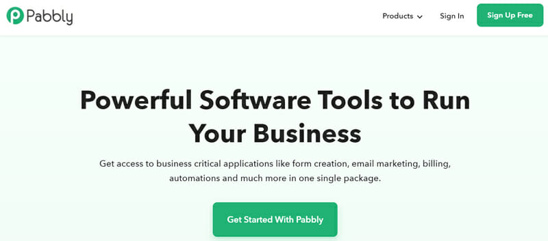 Pabbly is all In One Email Marketing Form Creation and Billing Solution