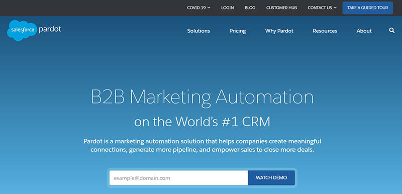 Pardot is the best HubSpot Alternative for Marketing Automation