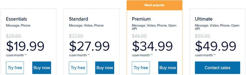 RingCentral Meetings Pricing Plan