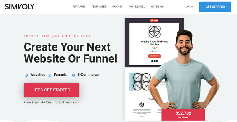 SIMVOLY is the Best website builder for blogs that include sales funnels and landing pages