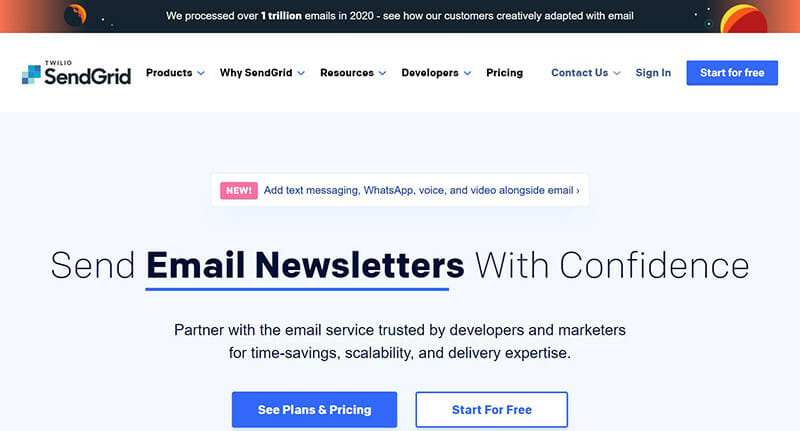 SendGrid is the best mass email service for sending transactional emails.