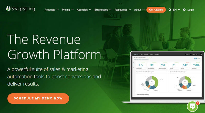 SharpSpring is the Powerful Sales and Marketing Automation Platform for Growing The Revenue of Small Businesses.