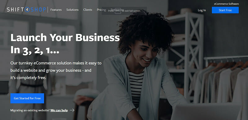 Shift4Shop is the best Bluehost Alternative for Small Online Stores