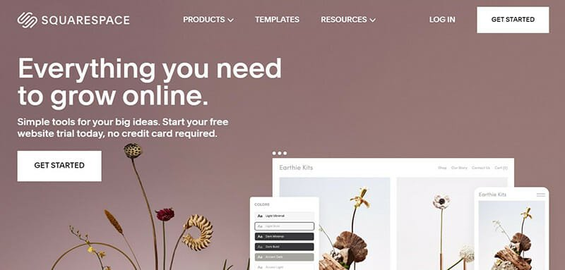 Squarespace is the best free website builder for business sites.