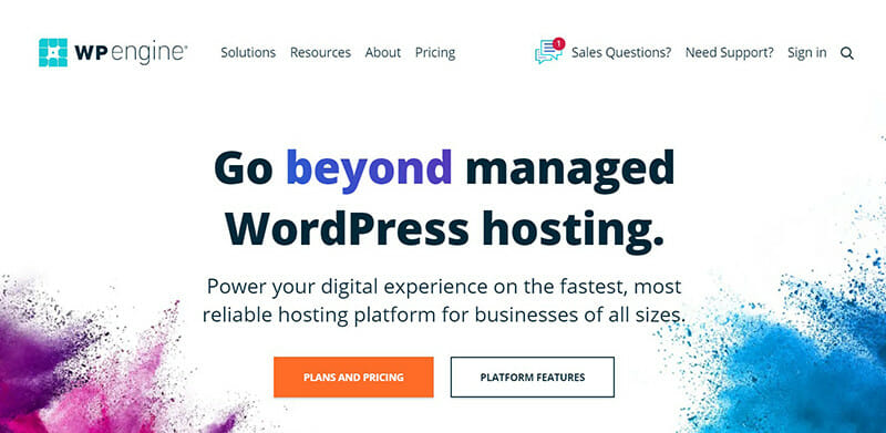 WP Engine is the best alternative to Bluehost's managed wordPress hosting