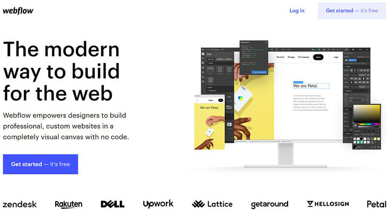Webflow is the best Bluehost Alternative for Experienced Developers.