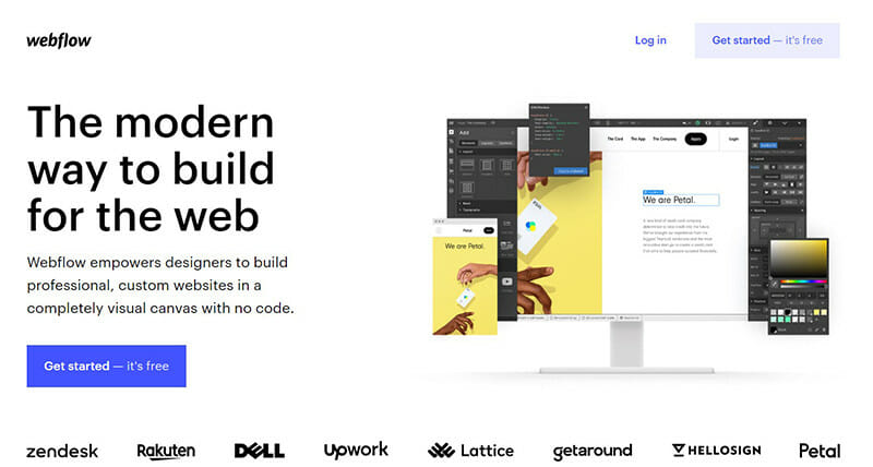Webflow is the best for agencies and designers who build websites for clients.