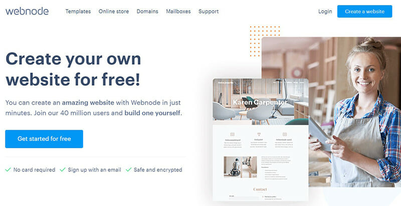 Webnode is the best free website builder for launching a multilingual website.