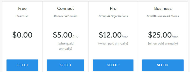 Weebly Pricing Plan
